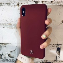Чехол Mercedes для iPhone XS Max Silicone line Hard Red
