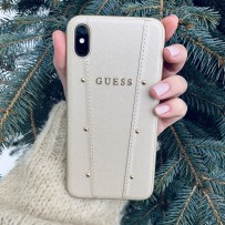 Чехол Guess для iPhone XS/ X KAIA collection Hard Gold