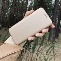 Чехол-книжка кожаный Innovation Case для Samsung Galaxy S10 Золотой