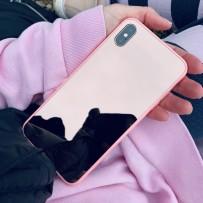 """Чехол """"Закаленное стекло"""" зеркальное золото для iPhone XS Max"""