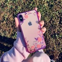 """Чехол """"Цветочки"""" для iPhone XS Max, фиолетовый"""