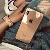 Идеальный чехол для золотого iPhone XS Max, прозрачный с золотым оттенком, ультратонкий силиконовый