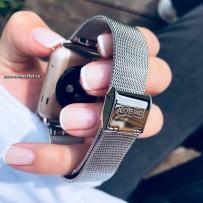Ремешок - сетчатый браслет Миланский COTEetCI W2 (CS2062-SS) для Apple Watch 40мм/ 38мм Серебристый