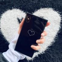 "Чехол ""Геометрия""  One Love для iPhone XS MAX, черный"