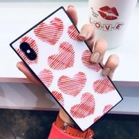 """Чехол """"Геометрия"""" Read heart для iPhone XS MAX"""