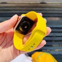 Ремешок спортивный Sport Band для Apple Watch 40мм/ 38мм, лимонный