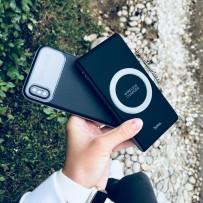 Аккумулятор внешний универсальный Hoco B32- 8 000 mAh Energetic wireless power bank (USB:5V-2.1A) Черный