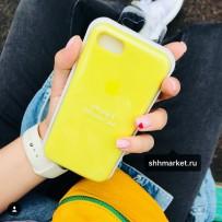Чехол-накладка силиконовый Apple Silicone Case для iPhone 7/8 (4.7) Lemonade под оригинал
