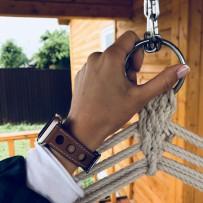 Ремешок кожаный COTEetCI W15 Fashion LEATHER с отверствиями (WH5221-KR-42) для Apple Watch 44мм/ 42мм Коричневый